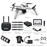 Alician Drone Trajectory Flight Altitude Hold G-Sensor 3D Flips 6-Axis Gyro Gimbal JJRC JJPRO X5 5G WiFi FPV RC GPS Positioning Altitude Hold 1080P Camera Brushless Motor 2 Battery