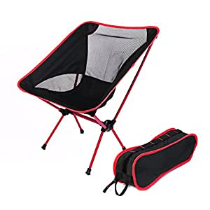 Ultraligero m-h-r portátil plegable Camping silla de pesca–PREMIUM CALIDAD aluminio construcción, Heavy Duty–Portátil, cómodo