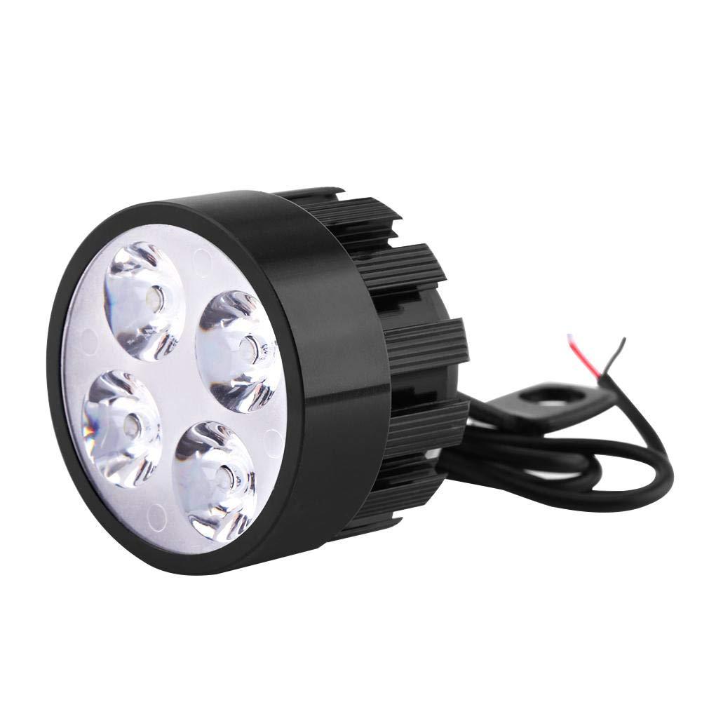 Duokon Riflettore Universale Moto da 1 Coppia 12V Faro Moto Specchio Universale a LED