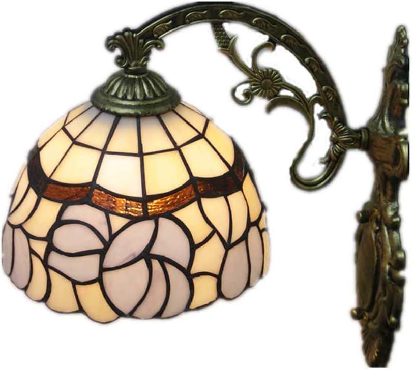 Style Lampe Murale En Vitrail Couloir Europ/éen L/èche-Murs De Lh/ôtel E27 Cafe Applique Dext/érieur Vintage LED Applique Murale Fer Forg/é Peint Lampe De Mur