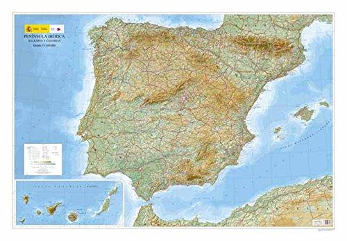 Península Ibérica, Baleares y Canarias (Relieve): Amazon.es: CENTRO NACIONAL DE INFORMACIÓN GEOGRÁFICA: Libros
