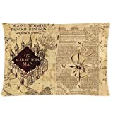 Harry Potter Marauder's Map 12 x 20 Inches Custom Polyester Pillow Case Cover Cushion Cover Model: Cushion Cover 0010