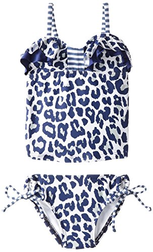 Splendid Little Girls' Untamed Bandini Tankini, Navy, (Splendid Leopard)