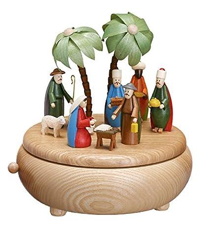 Caja de música - escena sin pintar de la natividad - grande; cuadros pintados caja