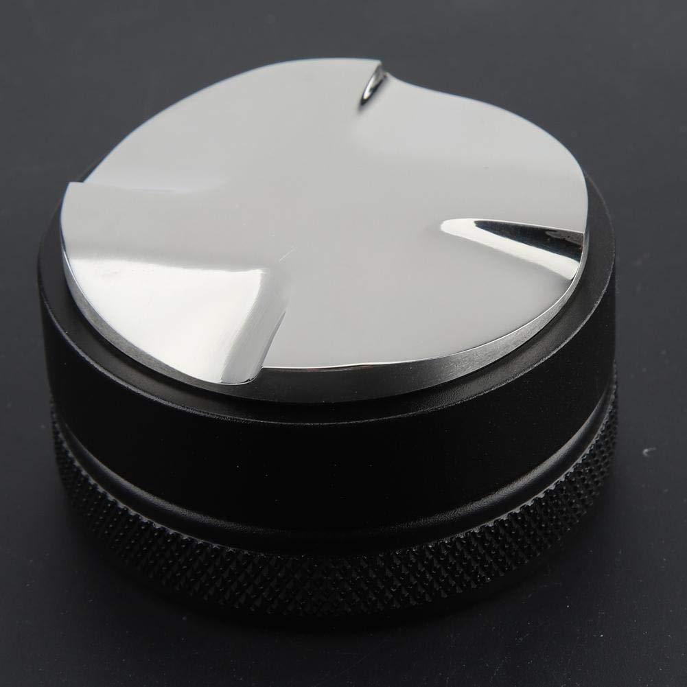 Edelstahl Kaffee Tamper Leveler H/öhe Einstellbar 58mm Distributor Kaffeemehlverteiler zur Perfekten Extraktion mit Siebtr/ägermaschinen