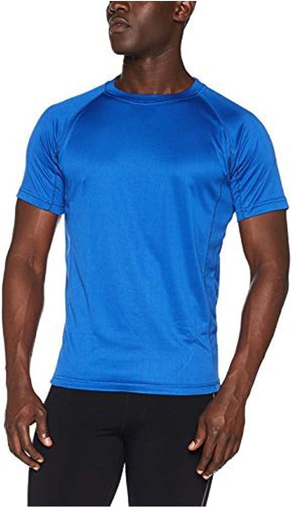 TALLA XS. AA Sportswear Nuevo Hombre Transpirable Camiseta de Manga Corta Transpirable Cool Dry Correr Gimnasio Camiseta Rendimiento Deportivo