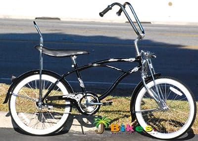 """Micargi Hero 20"""" Boys Kids Low Rider Beach Cruiser Bicycle Black"""
