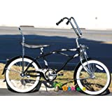 "Micargi Hero 20"" Boys Kids Low Rider Beach Cruiser Bicycle Black"