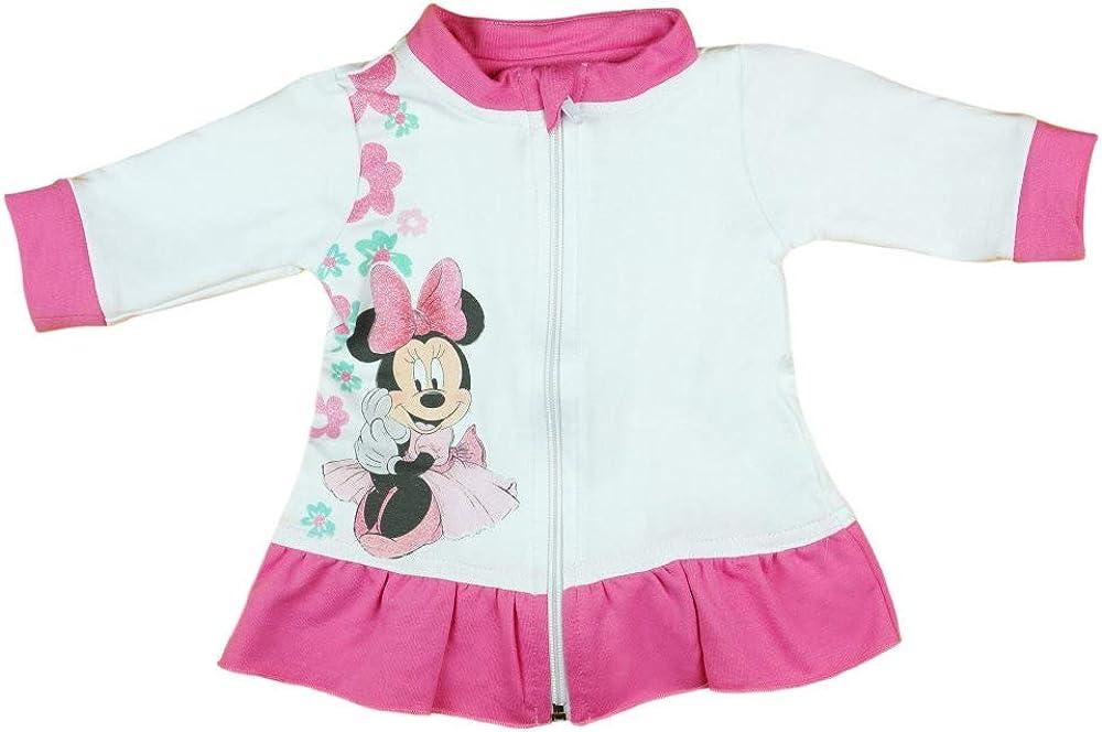 Reissverschluss-Jacke f/ür 0 3 6 9 12 Monate Wickelj/äckchen Gr/össe 62 68 74 80 86 92 98 von Disney mit Minnie Mouse Neugeborene und Baby M/ädchen warme Sweat-Jacke aus Baumwolle