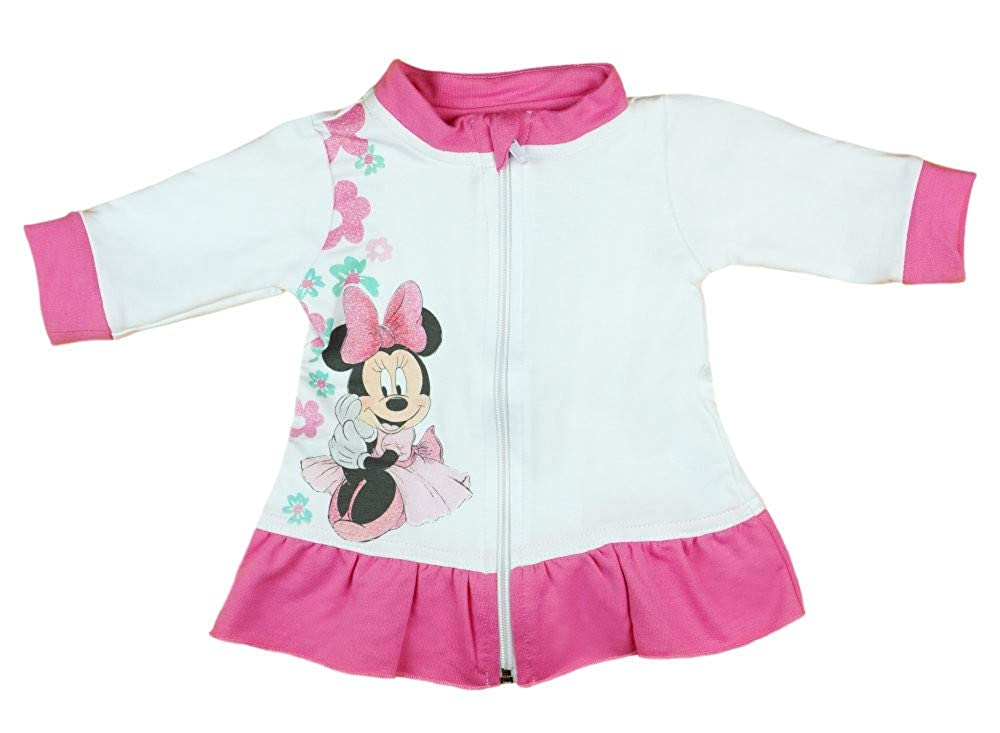 Wickelj/äckchen Gr/össe 62 68 74 80 86 92 98 von Disney mit Minnie Mouse Reissverschluss-Jacke f/ür 0 3 6 9 12 Monate Neugeborene und Baby M/ädchen warme Sweat-Jacke aus Baumwolle