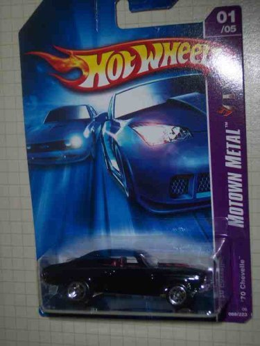 Motown Metal Series #1 1970 Chevelle Black 5-Spoke Wheels #2006-86 Collectible Collector Car Mattel Hot Wheels 1:64 Scale