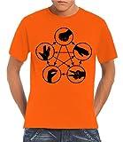 Touchlines Herren T-Shirt - Stein Schere Papier Echse Spock