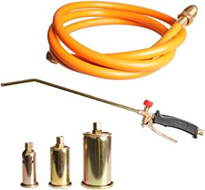 Propane Weed Torch Burner Fire Starter Ice Melter w/ 3 Nozzles & 5ft Hose