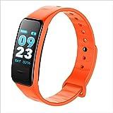 XHZNDZ Color Smart Movement Bracelet, Fitness Watch Activity Tracker With Heart Rate Monitoring Watch, IP67 Waterproof Sleep Monitor, Running Counter (Color : Orange)