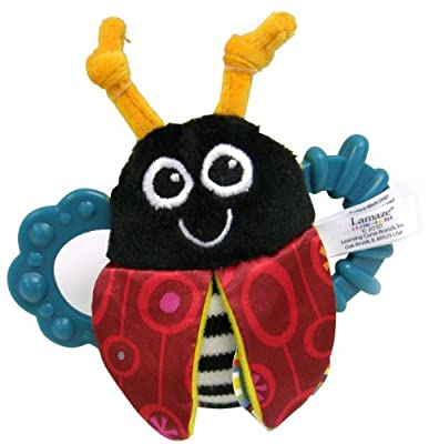 Lamaze High-contrast Flip-flop Bug Rattle by TOMY