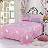 Comfortable Breathable Soft Extremely Durable Bedding Warmly Simple Princess Style Pure Aloe Cotton Bed Sheets