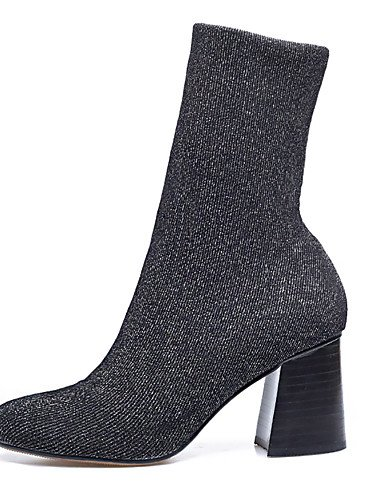 Uk3 bottes Bout Cn35 Personnalisées us5 robe Soir Bottes automne Mode hiver 5 chaussons Fête Black Oklok femme 5 À Chaussures amp; Xzz Eu36 Rond Matériaux B7xvx4qfw