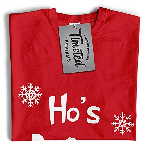 Tim And Ted Natale T-Shirt Da Donna Prima di Ho Slogan Hoes Natale per adulti disegno stampato