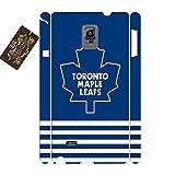 Sports Ice Hockey Theme Toronto Maple Leafs Team Logo, Print Phone Case Skin for Samsung Galaxy Note 4 Hard Plastic Phone Accessories for Boys