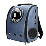 Texsens Innovative Traveler Bubble Backpack Pet Carriers Airline Switchable Mesh Panel for Cats and Dogs (Switchable Dark Blue)
