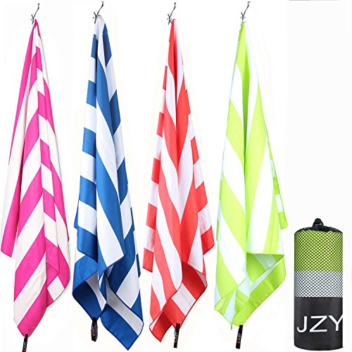 Top JZY Microfiber Towel, Quick Dry Towel for Beach, Swim, Pool, Camping, Outdoors, Sand Free Towel-Lightweight(Extra Large 70×35, Large 60×30) for sale