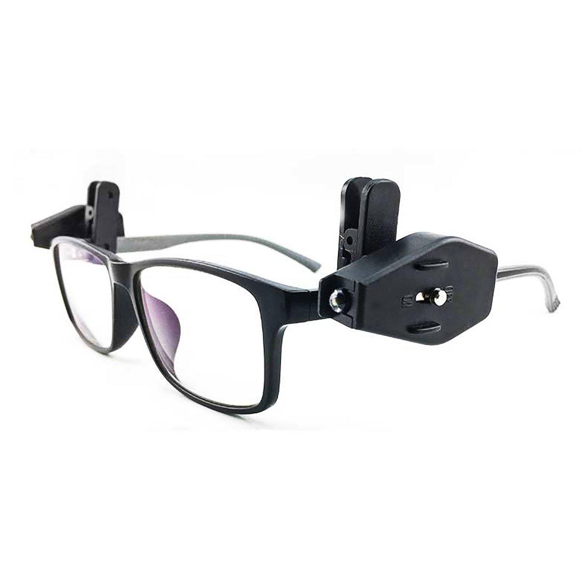 2pcs Mini LED Eyeglass Lectura Luz brillante noche lámpara con clip giratorio para niños ancianos mantenimiento trabajador seguridad gafas camping lector LanQiu