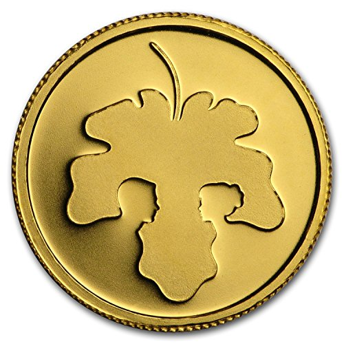 2017 IL Israel 1/25 oz Gold Adam and Eve Proof Gold Brilliant Uncirculated