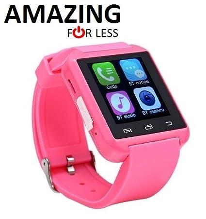 Amazingforless Bluetooth Touch Screen Smart Wrist Watch (U8 - Pink)