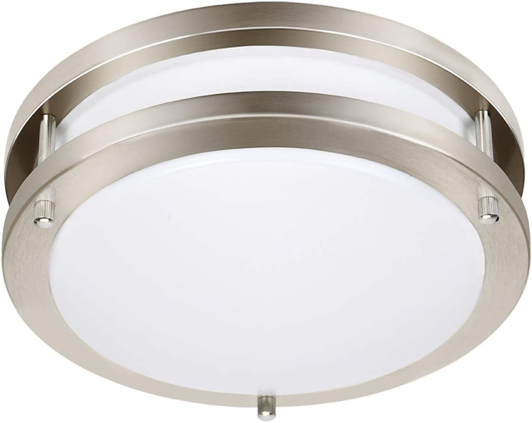 Drosbey 36w Led Ceiling Light Fixture 13in Flush Mount Light Fixture Ceiling Lamp For Bedroom Kitchen Bathroom Hallway Stairwell Super Bright 3200 Lumens 3000k Warm White Amazon Com
