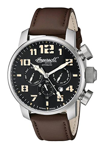 Ingersoll Men's IN1224SBK Colby Analog Display Automatic Self Wind Brown Watch