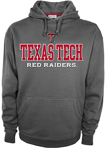 NCAA Texas Tech Red Raiders Men's Huddle Up 2 Long Sleeve Hooded Top Shirt, XX-Large, Grey by SECTION 101 by Knights Apparel