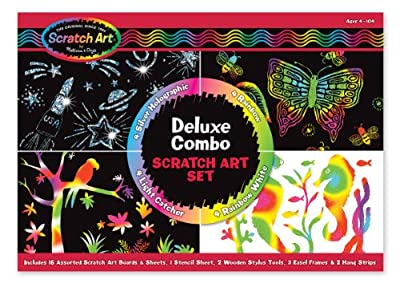 Melissa & Doug Deluxe Combo Scratch Art Set