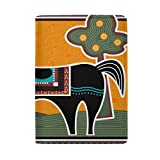 THUNANA Africa Animals Painting Pattern 3 Card Pocket Travel PU Leather Passport Holder Case Cover For Women Men Kids