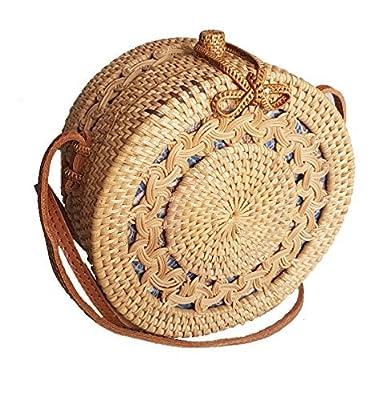 Rattan Nation - Handwoven Round Rattan Bag Straw Bag