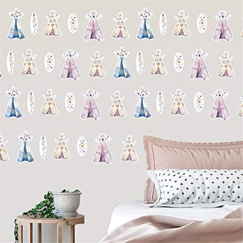 WOCACHI Wall Stickers Decals New Home Decoration Colorful Flowers Combination Children Wall Sticker Art Mural Wallpaper Peel & Stick Removable Room Decoration Nursery Decor (Vintage Furniture Garden Ireland)