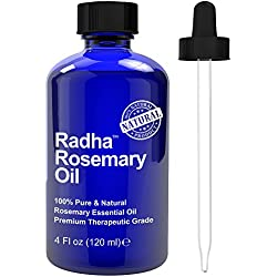 Radha Beauty Rosemary Essential Oil 4 oz - 100% Pure Therapeutic Grade