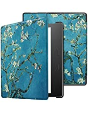 Amazon Kindle Oasis 3 hoesje, SATURCASE mooie PU lederen Flip Folio Ultra slanke lichtgewicht beschermende hoes met automatische slaap/Wake functie voor Amazon Kindle Oasis 3 (2019) / Oasis 2 (2017) KN-4