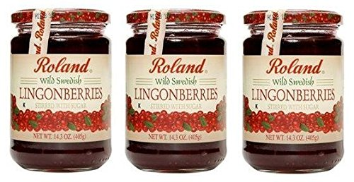 ROLAND FRUIT WILD LINGONBERRY, 14 OZ( 3 pack) (Roland Jam)