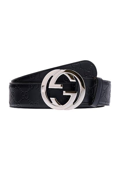 design di qualità c81f2 be7ac Gucci Cintura Uomo 411924CWC1N4009 Pelle Blu: Amazon.it ...