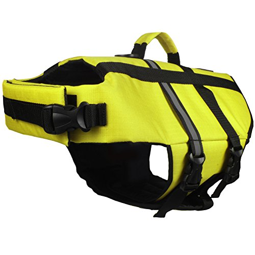 - American Kennel Club Pet Premium Quality Flotation Life Vest - Yellow XS