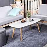 Coffee Tables for Small Spaces GreenForest Modern Coffee Table for Living Room Small Spaces,Tea Table Mid Century Style Wood Legs, 43.3