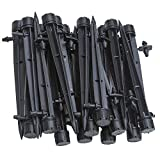 UClever Irrigation Drippers with Barbed Connector for 4mm/7mm Tube, Adjustable 360 Degree Water Flow Stake Emitter Drip System, Pack of 50 (Irrigation Drippers)