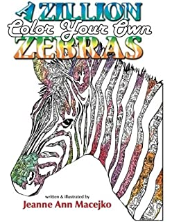 Zebra Coloring Book for Adults: Adult coloring book with zebras ...