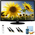 "28"" Slim LED HD 720p TV Clear Motion Rate 120 Plus Hook-Up Bundle - UN28H4000. Bundle Includes TV, 3 Outlet Surge protector with 2 USB Ports, 2 -6 ft High Speed 3D Ready 1080p HDMI Cable, Performance TV/LCD Screen Cleaning Kit, and Cleaning Cloth."