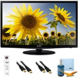"""28"""" Slim LED HD 720p TV Clear Motion Rate 120 Plus Hook-Up Bundle - UN28H4000. Bundle Includes TV, 3 Outlet Surge protector with 2 USB Ports, 2 -6 ft High Speed 3D Ready 1080p HDMI Cable, Performance TV/LCD Screen Cleaning Kit, and Cleaning Cloth."""