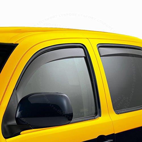 LT Sport Custom Fit 06-09 Dodge Charger Window Visor RAIN Guard Wind Deflector