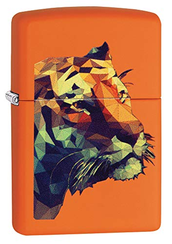 Zippo Tiger Orange Matte Pocket Lighter