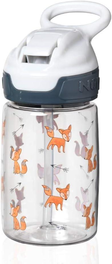 Nuby Tritan Sippy Cup - Copa del niño, 360 ml, Gris (Grey Fox)