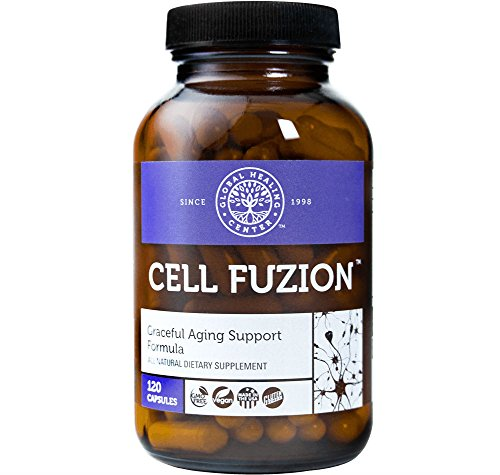 Global Healing Center Cell Fuzion Advanced Antioxidants for Cells with CoQ10, Trans-Resveratrol, PPQ & More - Guards Against DNA Damage & Supports Healthy Aging (120 Capsules) by Global Healing Center