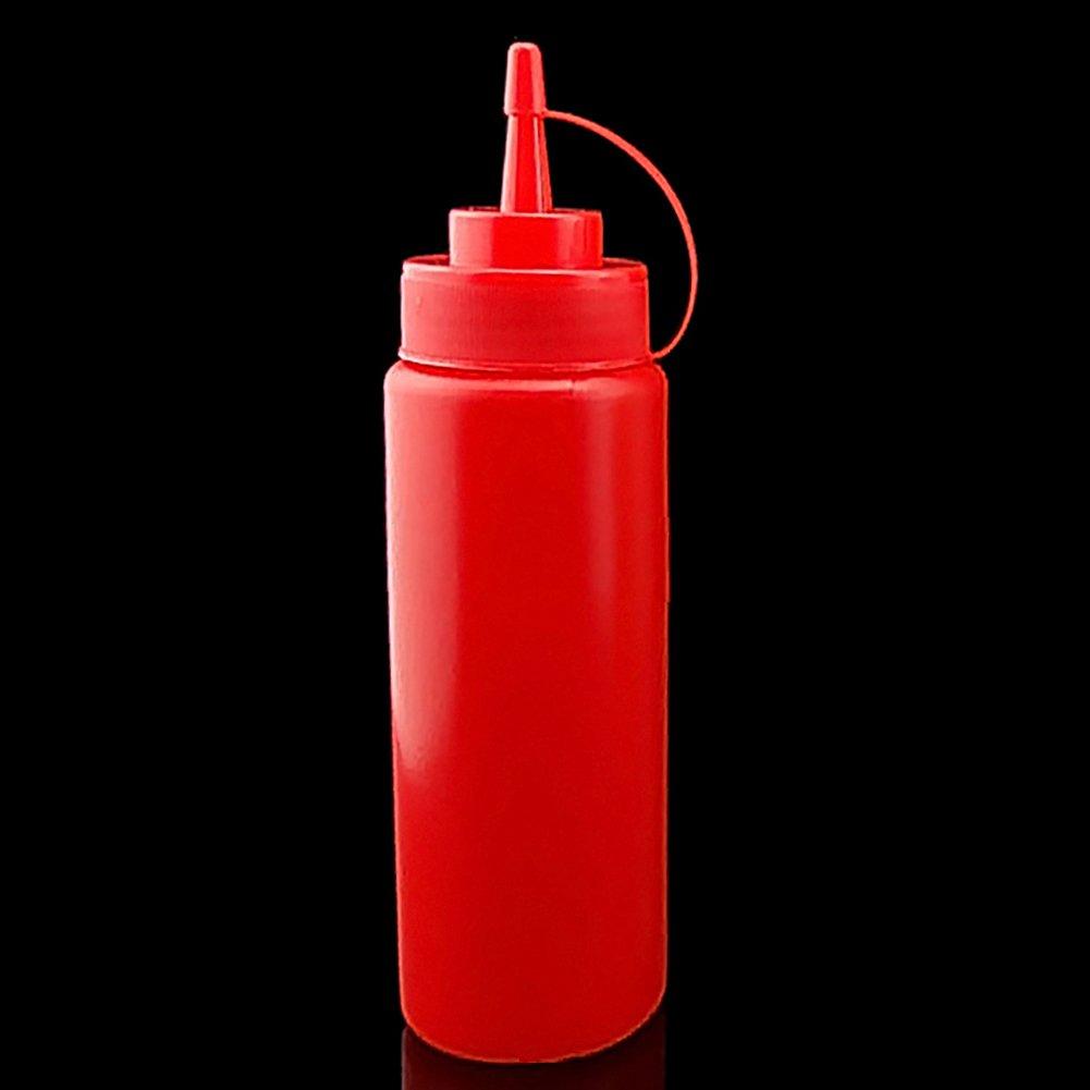 Xuniu 1Pc 8-24 OZ Bottiglia Spremere Condimento Dispenser Ketchup Salsa di senape Aceto Red